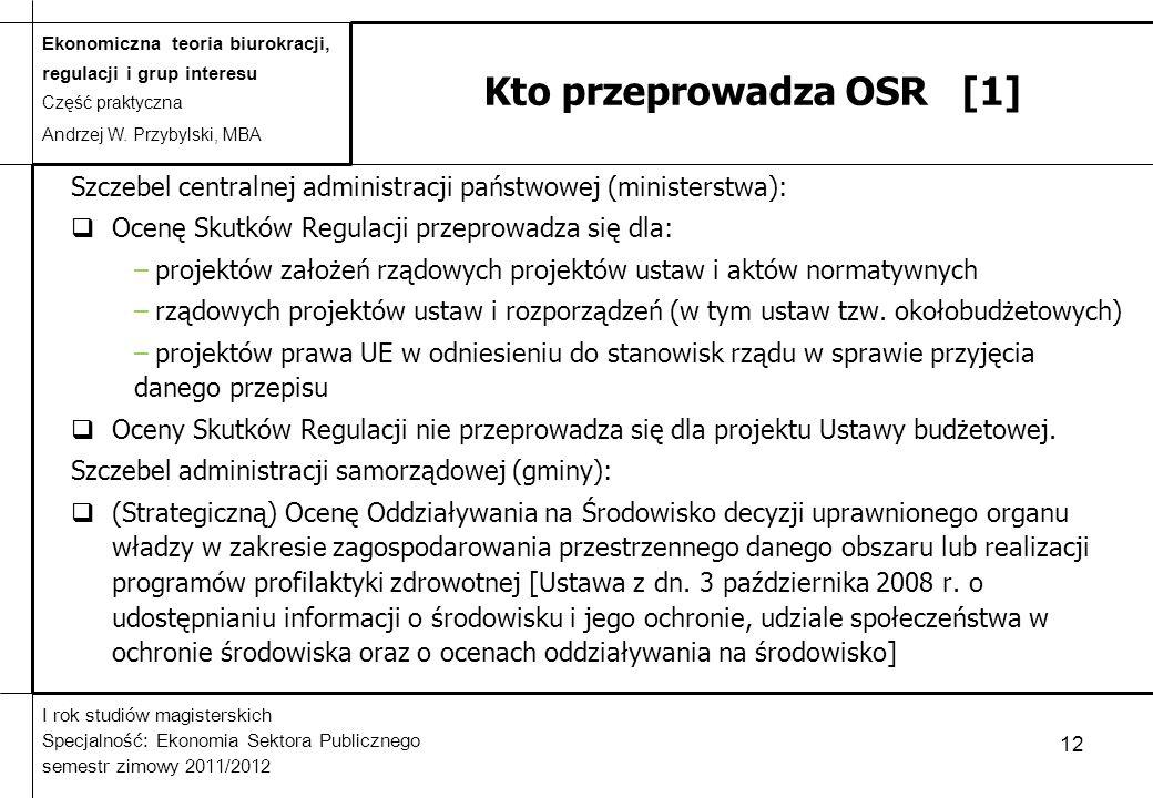 Kto przeprowadza OSR [1]